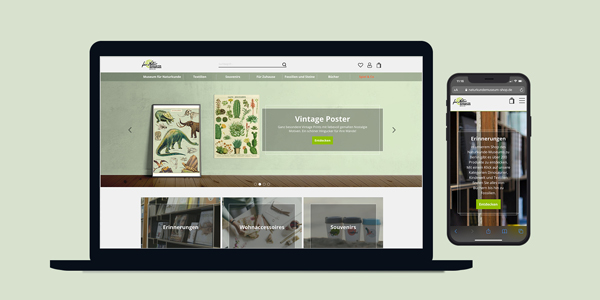 Go-Live: Naturkundemuseum-Shop und Humboldtstore mit neuer Optik