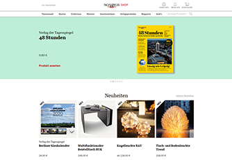 Relaunch Tagesspiegel Online-Shop